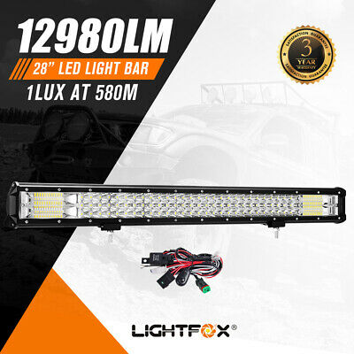 28Inch Philips Led Light Bar Flood Spot Combo Driving Lamp 4WD Offroad