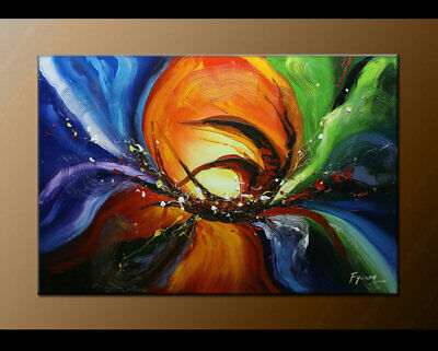 Large MODERN ABSTRACT OIL PAINTING On Canvas Contemporary Wall Art Decor FY3005