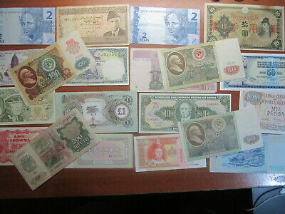 Bulk Lot World bank Notes Total 20 MIXED LOT VERY GOOD TO ALMOST UNCIRCULATED