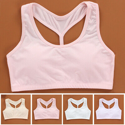 1 Pc Young Students Adolescent Bra Underwear Breathable Sports Vest Brassiere