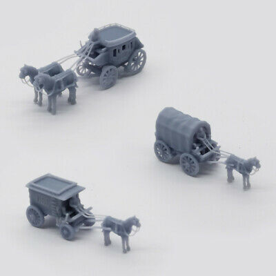Outland Models Scenery Vehicle Old West Carriage / Wagon Set 1:160 N Gauge