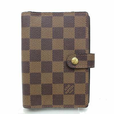 Authentic Louis Vuitton Diary Cover Agenda PM Browns Damier 804235