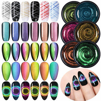 NICOLE DIARY 5ml Spider Nail Art Gel Polish Soak Off 9D Cat Eyes UV Gel Varnish