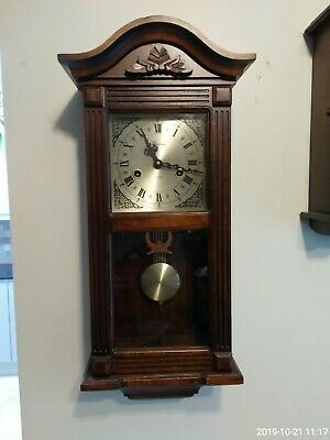 Lincoln 31 Days Movement Wooden Wall Hanging Clock, Key Winding, Vintage