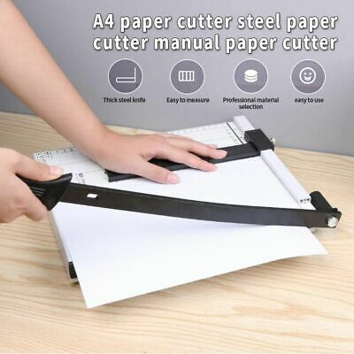 A4 To B7 Paper Photo Portable Cutter Guillotine Trimmer Knife Metal Base Office