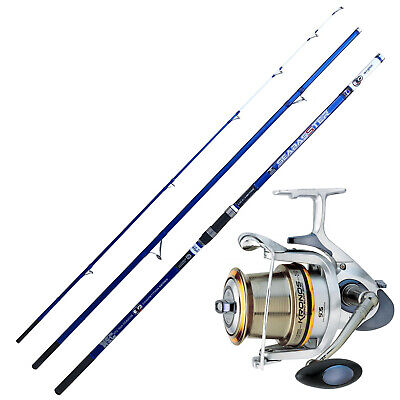 KP4245 Kit Pesca Surfcasting Evo Canna Seabasster Mulinello Kronos 8000 PPG