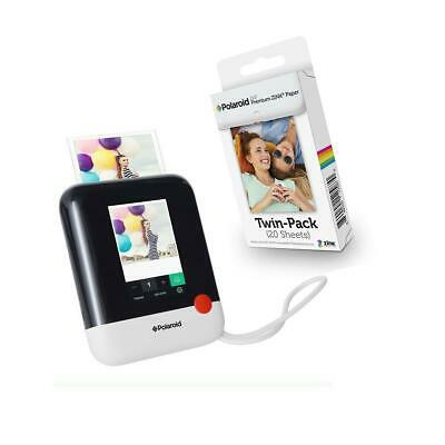 Polaroid POP 20MP Instant Digital Camera with ZINK Printing, White W/Photo Paper