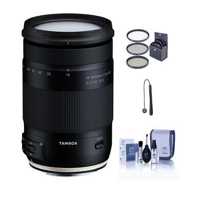 Tamron 18-400mm f/3.5-6.3 Di II HLD Lens for Nikon F With Free Accessory Bundle