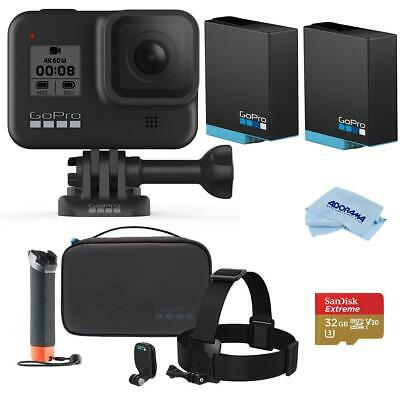 GoPro HERO8 Black - Bundle With Floating Grip and HD Mount And Case Kit