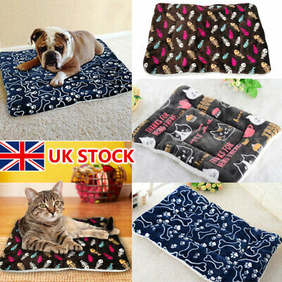 Large Self Heating Pet Dog Mat Bed Pad Soft Warm Cat Rug Thermal Washable Pillow