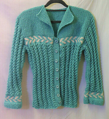 1940/50s Womens Ladies hand Knitted Cardigan WW2 Land Army girl reenactment WWII