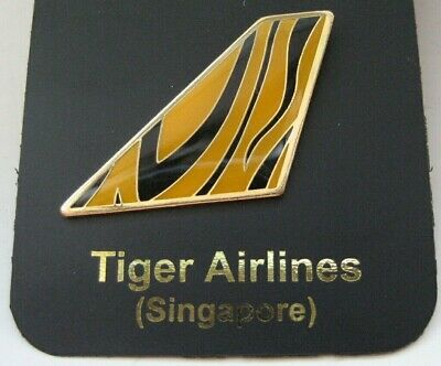 "#2953 Tiger Airways Singapore Airlines Baggage Label Luggage 3x2/"" Decal STICKER"