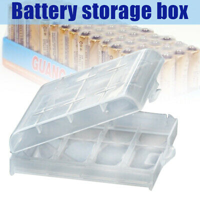 10 Pcs Plastic AA And AAA Battery Case Holder Storage Box Cover Organiser Box
