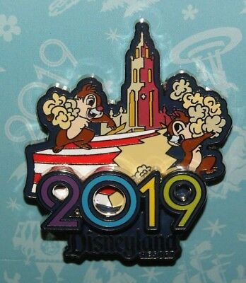 Disney Parks 2019 Logo Disneyland Chip & Dale Chipmunks Pin