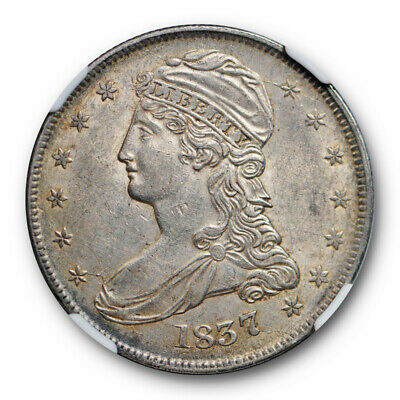 1837 Capped Bust Half Dollar NGC AU 58 About Uncirculated Reeded Edge