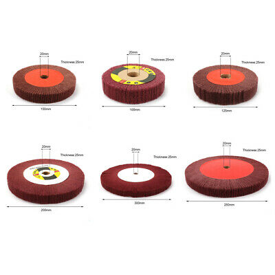 Non-Woven Abrasive Flap Grinding Wheel Disc 320 Grit Polishing Tool Replacement