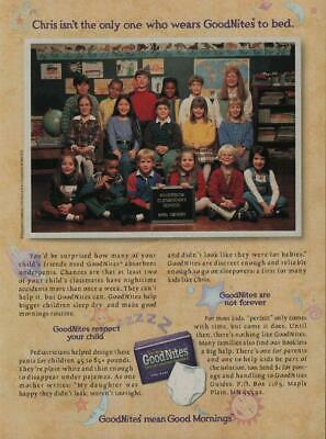 1996 GoodNites Vintage Magazine Ad Page Underwear Diapers Bedwetting