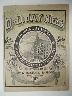 Dr. D. Jaynes 1912 Medical Almanac and Guide to Health Quack Medicine Booklet