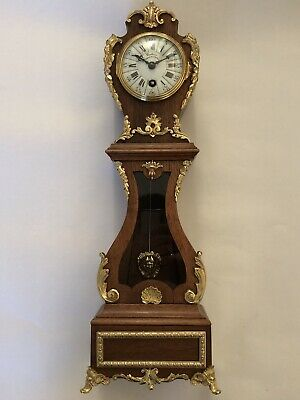 Rare Miniature French Longcase Clock, Grandfather Clock, Mantle Clock