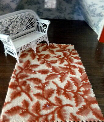 Dollhouse Miniature 1:12 Scale Peking Runner Rug White