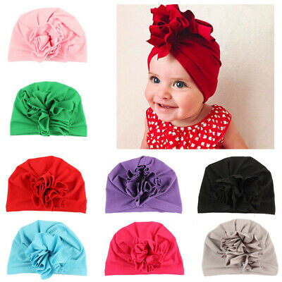 Kid Baby Girl Toddler Bow Hair Band Headband Stretch Turban Head Wrap Indian Hat