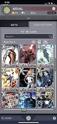 marvel collect topps digital Tier 8 COMPLETE SET with AWARD