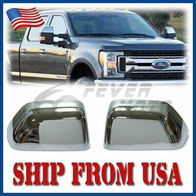 Fit 08-16 FORD SUPERDUTY F250 F350 F450 F550 CHROME TOPHALF MIRROR COVER OVERS