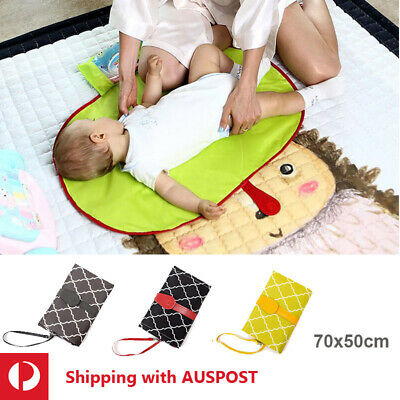 Baby Changing Mat Portable Waterproof Pad Nappy Diaper Change Easy Clean Dry