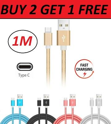 Samsung Galaxy A70 A50 A40 Type C Data Sync Charger Charging Cable Braided USB