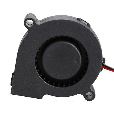 Black Brushless DC Cooling Blower Fan 2 Wires 5015S 12V 0.12A A 50x15 m es