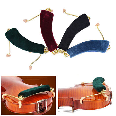 Spring Shoulder Rest Support Holder For Size 3/4 4/4 Red Violin Fiddle Musica es