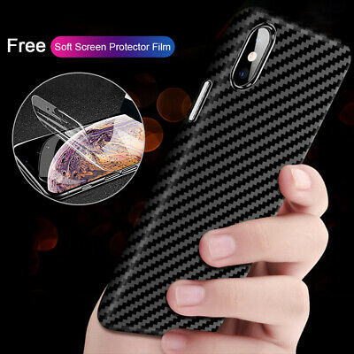 Shockproof Silicone Carbon Fibre Case Cover For iPhone 11 Pro Max XR XS Max X XS