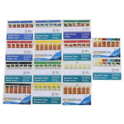 Dental absorbent 120 points 15-40^ 0.02 gutta percha taper endodontic xl