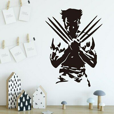 Wolverine Super Hero Wall Stickers Wall Decals For Bedroom Kids Room Decoration