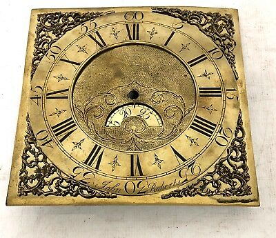 Antique LONGCASE GRANDFATHER CLOCK Brass Dial JOHN ROBERTS