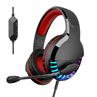 Black/Red Over Ear With Dolby 7.1 Gaming Headset Surround Sound ONIKUMA K8 BH