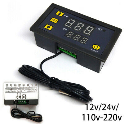 12V/24V/220V Digital LED Temperature Controller Thermostat Control Switch 20A