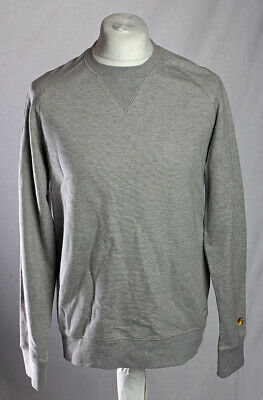 Carhartt WIP Chase Sweat Shirt Crew Pullover Jumper Sweater Grey Size M V.G.C!