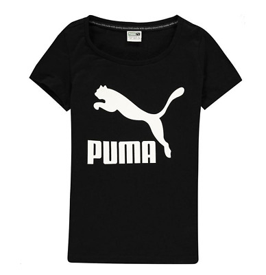 Puma Logo G Tee Cotton Black Age 7-8 Years  *Ref123