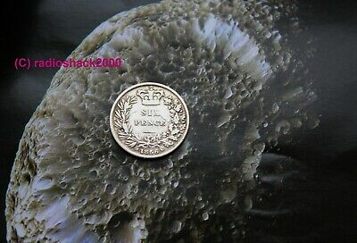 1856 Queen Victoria Silver Sixpence 6d British English 92.5% (Sterling) silver