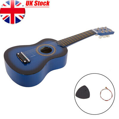21 Inch Pro Beginner Student Wooden Full Size Acoustic Guitar With Plectrum Blue