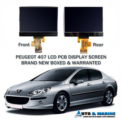 Peugeot 407 Lcd Display Screen Instrument Cluster Dash Uk Supplier 2005 2012