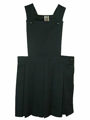 New Girls Ex Store Navy Apron Bib Front Pleated School Pinafore Tunic Age 3-12