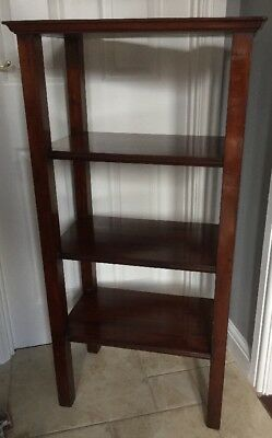 Antique Mahogany Shelf Unit - Free Standing.