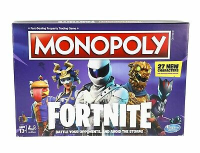Monopoly FORTNITE Edition Board Game By Hasbro Ages 13+ Sealed in Package, NEW!