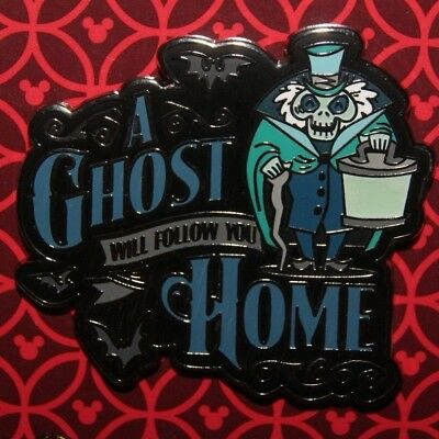 Disney Parks 2018 Haunted Mansion A Ghost Will Follow You Home Pin Hatbox Ghost