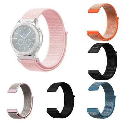 20mm 22mm Woven Nylon Sport Loop Watch Band Strap Quick Release Spring Pins H6R7