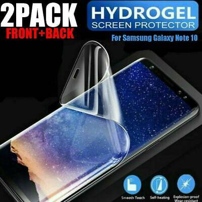 2Pcs New 20D Hydrogel Protective Screen Protector For Samsung Galaxy Note 10Plus