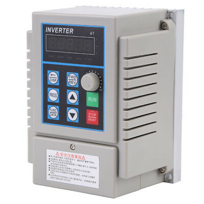 UK AC220V 0.75kW Single Phase Variable Frequency Drive 3PH VFD Speed Controller