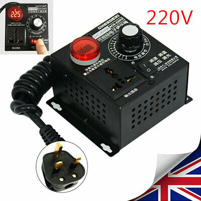 AC 220V 4000W Variable Voltage Regulator Speed Motor Fan Controllers Control HOT